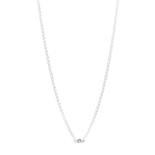 Bead Diamond Necklace // White Gold