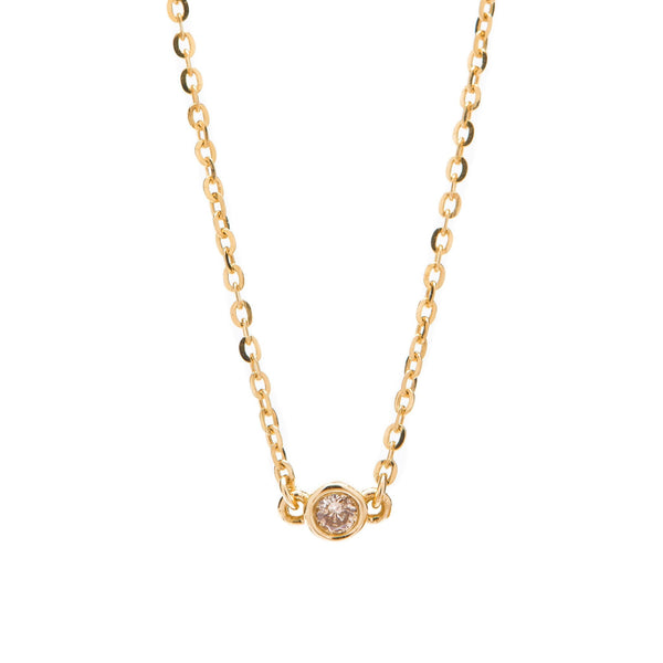 Bead Diamond Necklace // Gold
