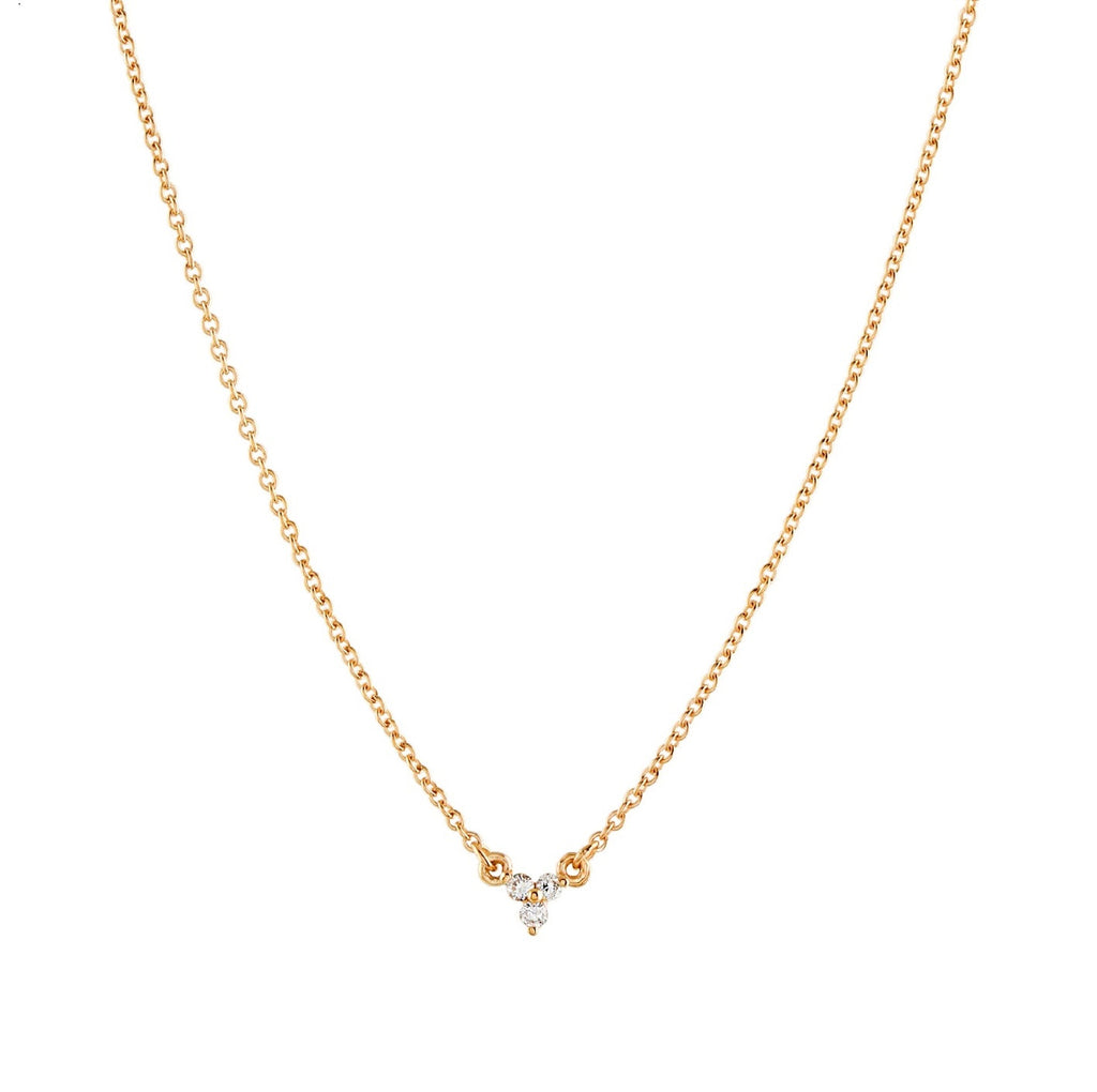 Dew Trio Diamond Necklace // Gold