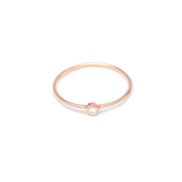 Bead Diamond Ring // Rose Gold