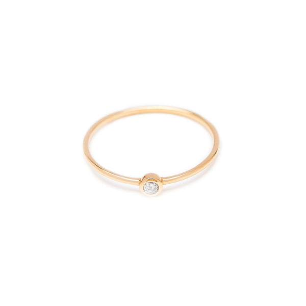 Bead Diamond Ring // Gold