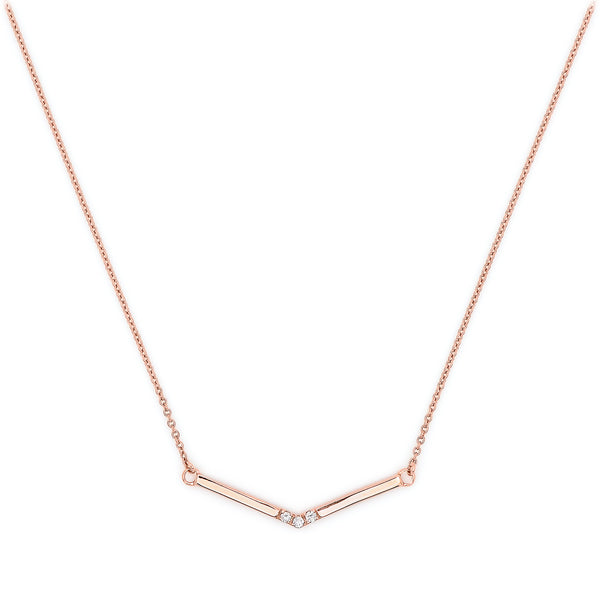 Pavé Diamond Wrap Necklace // Rose Gold