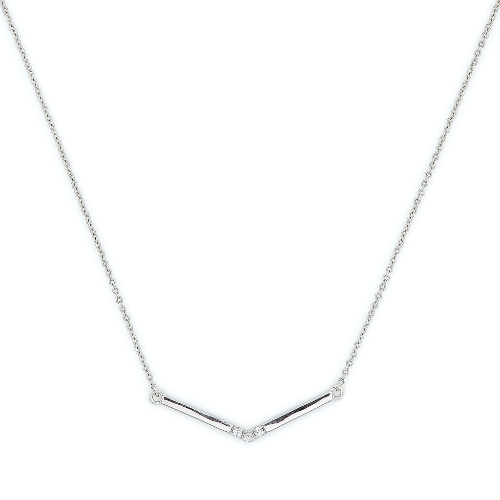 Pavé Diamond Wrap Necklace // White Gold