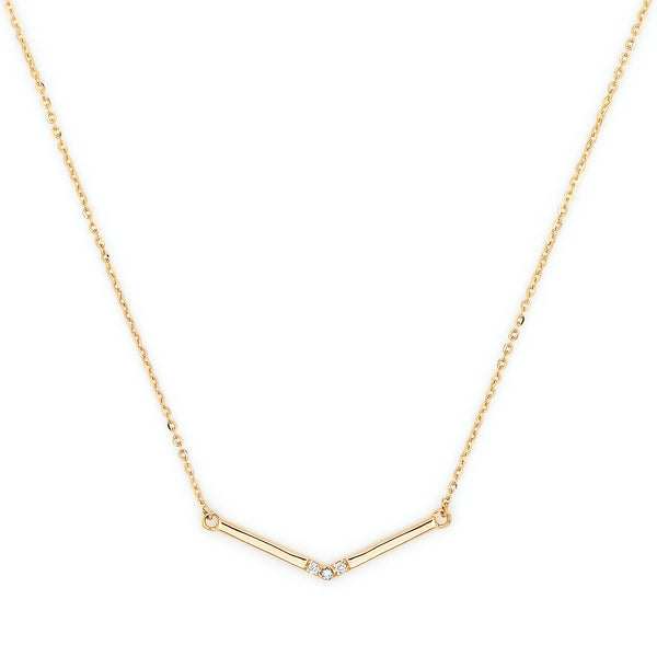 Pavé Diamond Wrap Necklace // Gold