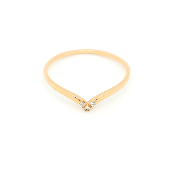 Pavé Diamond Wrap Ring // Gold