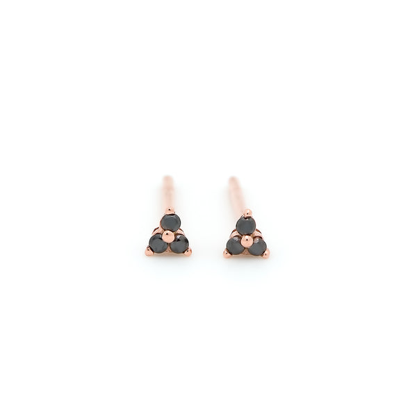 Dew Trio Diamond Earrings // Rose Gold