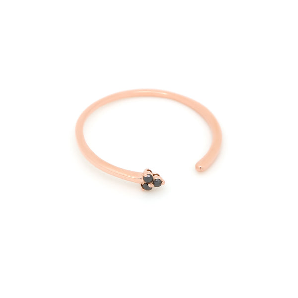 Dew Trio Diamond Ring // Rose Gold