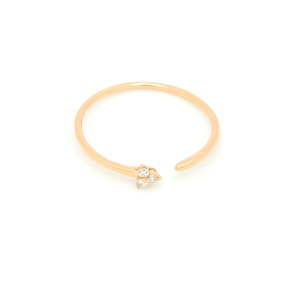 Dew Trio Diamond Ring // Gold