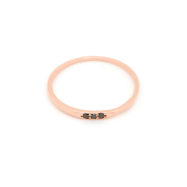 Skinny Love Pavé Diamond Twist Ring // Rose Gold