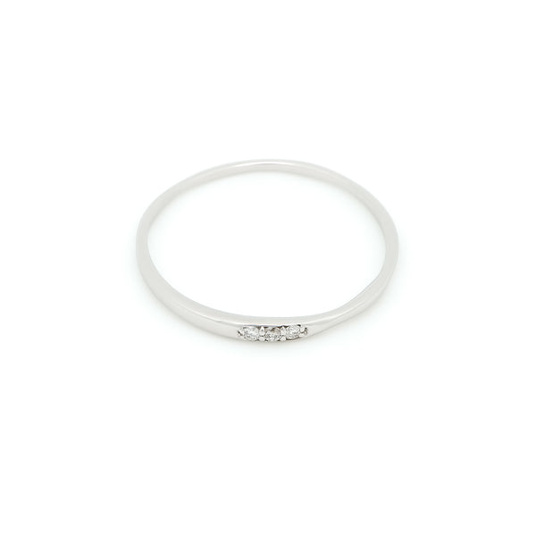 Skinny Love Pavé Diamond Twist Ring // White Gold