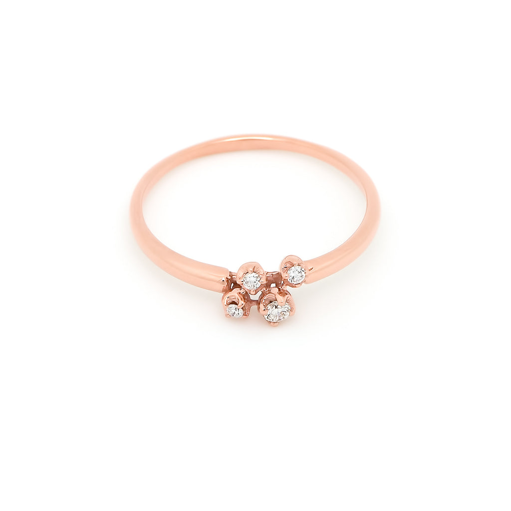 Nimbus Cluster Diamond Ring // Rose Gold