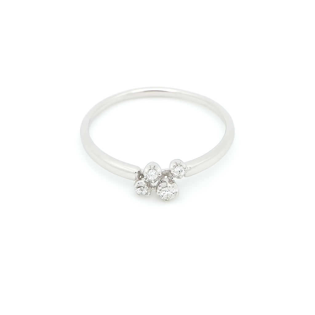 Nimbus Cluster Diamond Ring // White Gold