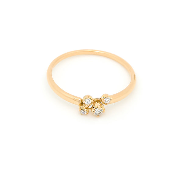 Nimbus Cluster Diamond Ring // Gold