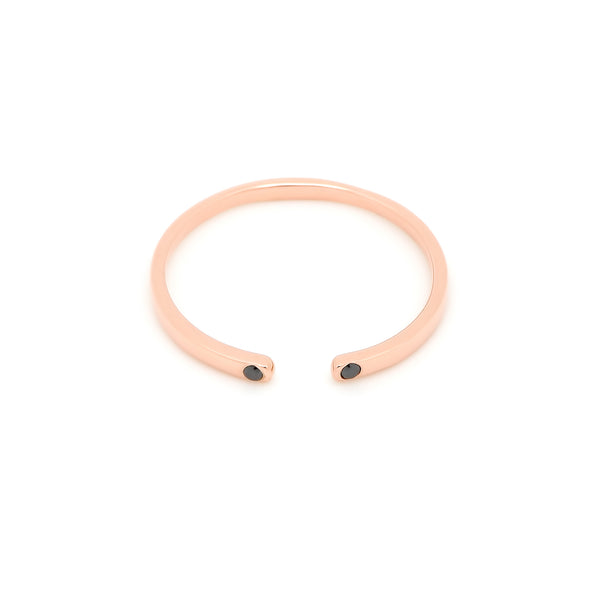 Cuff Open Diamond Ring // Rose Gold