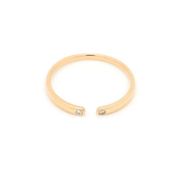 Cuff Open Diamond Ring // Gold