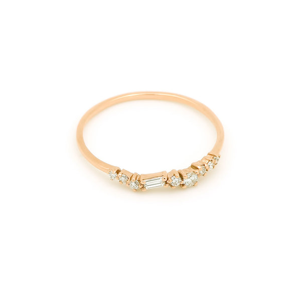 Aura Diamond Wedding Band // Gold - Lucy & Mui