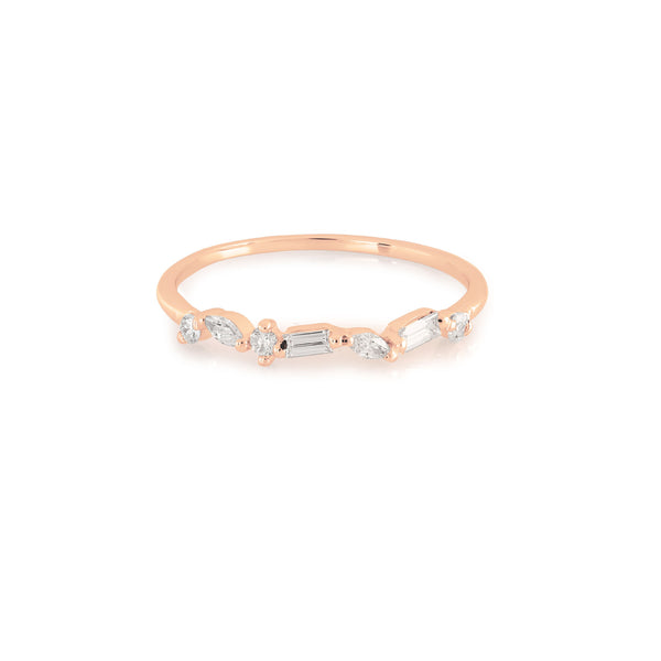 Victoria Diamond Wedding Band // Rose Gold
