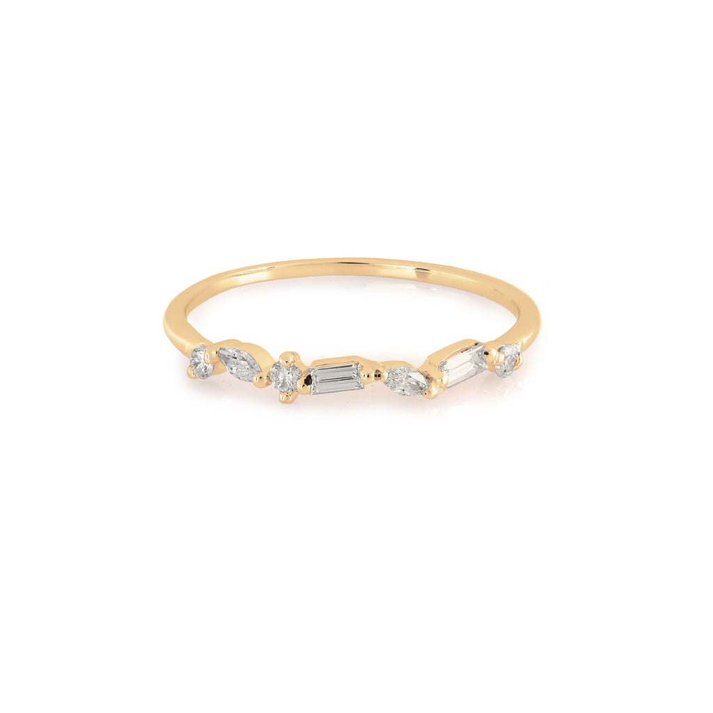 Victoria Diamond Wedding Band // Gold
