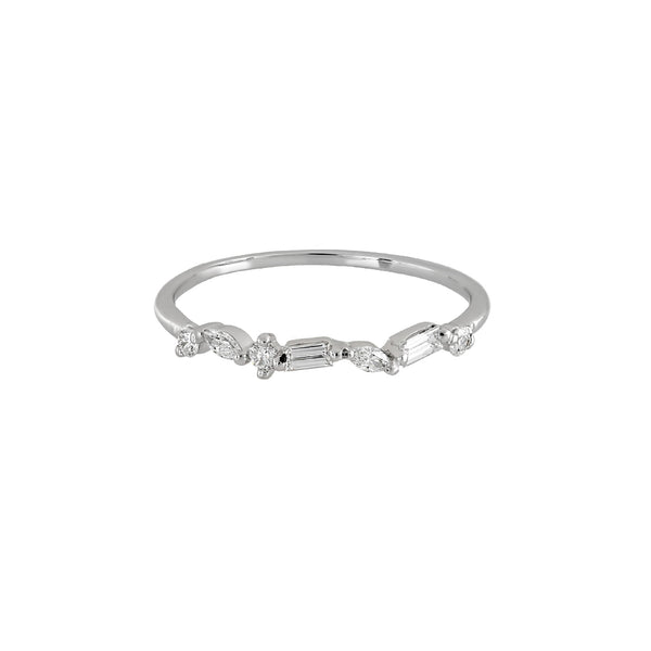 Victoria Diamond Wedding Band // White Gold
