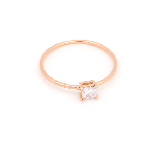Icon Square Diamond Engagement Ring // Rose Gold