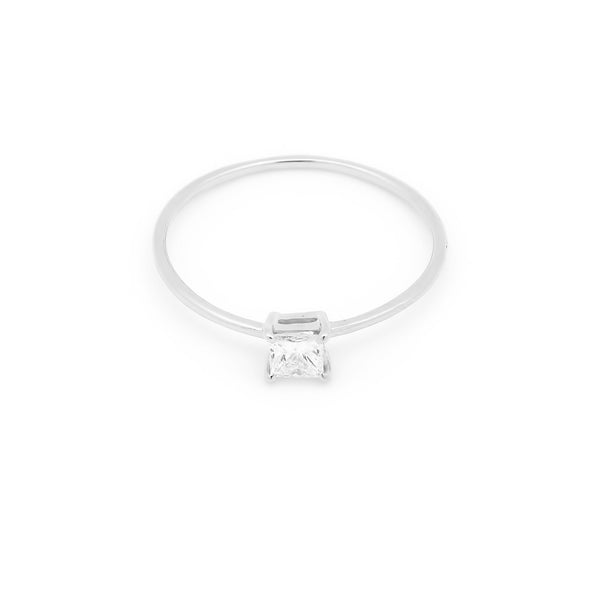 Icon Square Diamond Engagement Ring // White Gold