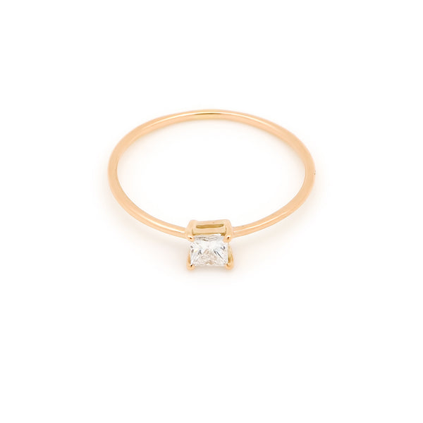 Icon Square Diamond Engagement Ring // Gold