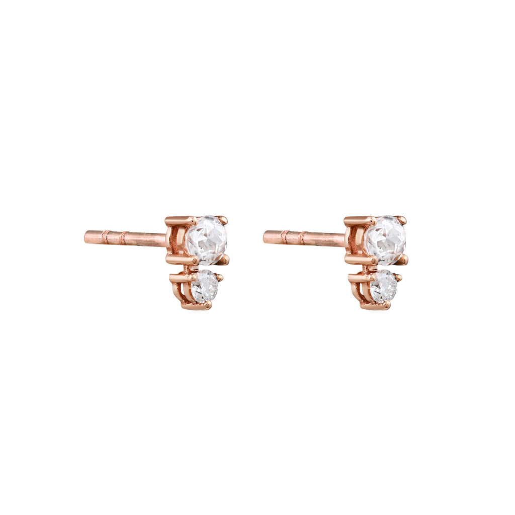 Eclipse Diamond Earrings // Rose Gold