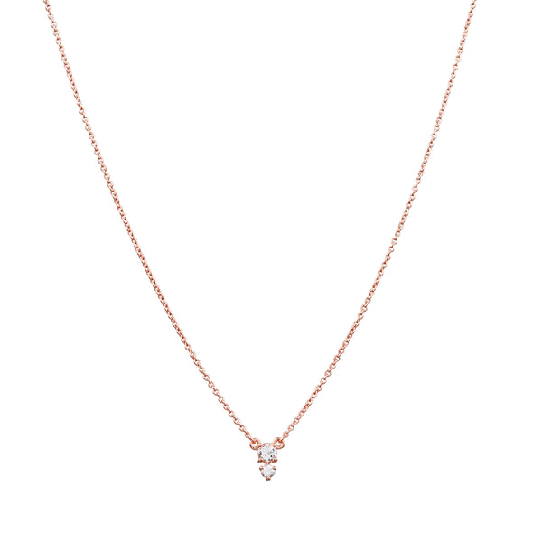 Eclipse Diamond Necklace // Rose Gold
