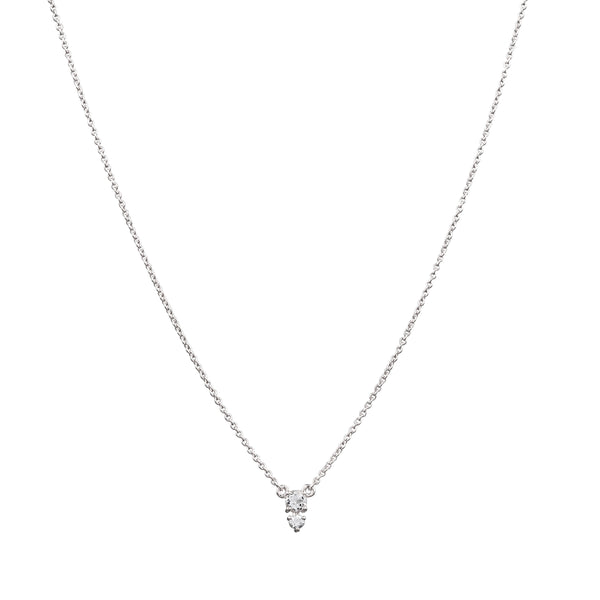 Eclipse Diamond Necklace // White Gold