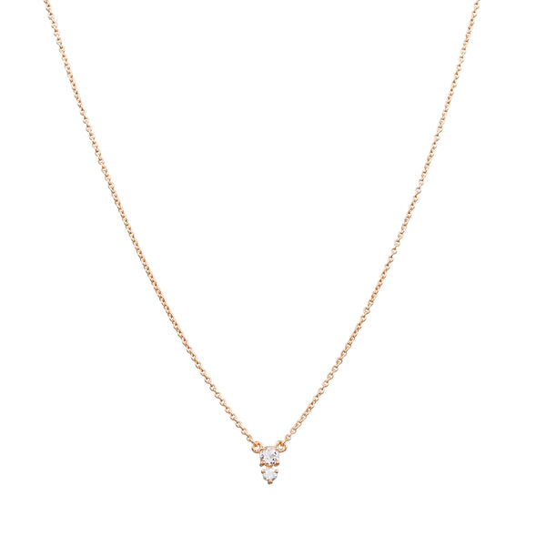 Eclipse Diamond Necklace // Gold