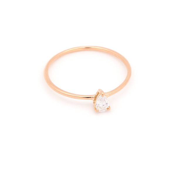 Astrid Pear Diamond Engagement Ring // Rose Gold - Lucy & Mui