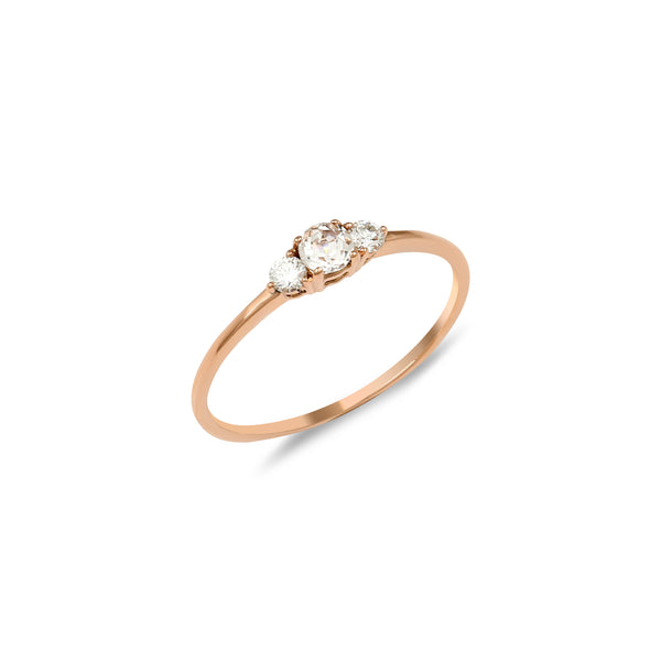Eclipse Diamond Ring // Rose Gold