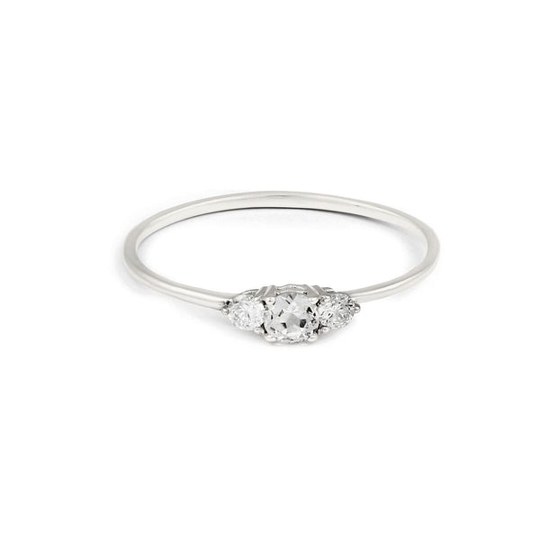 Eclipse Diamond Ring // White Gold