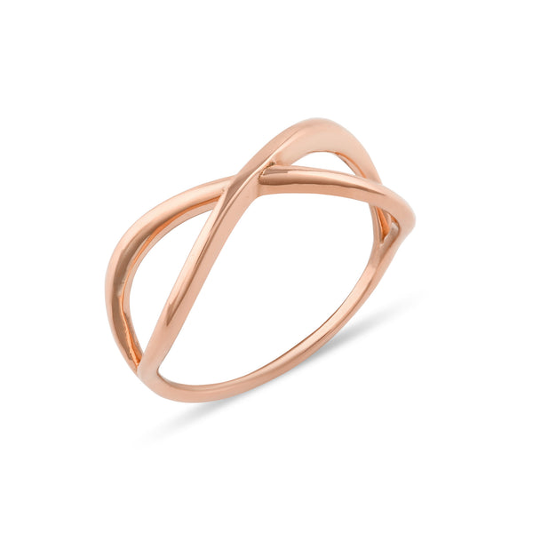 Curve Engagement Ring // Rose Gold