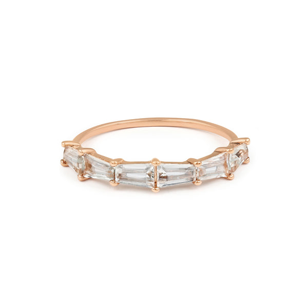 Gatsby Tapered Wedding Band // Rose Gold