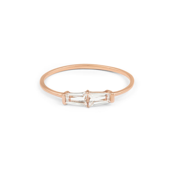 Tapered Baguette Ring // Rose Gold