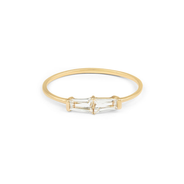 Tapered Baguette Ring // Gold