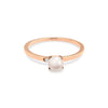 Tiffany Pearl Diamond Engagement Ring // Rose Gold
