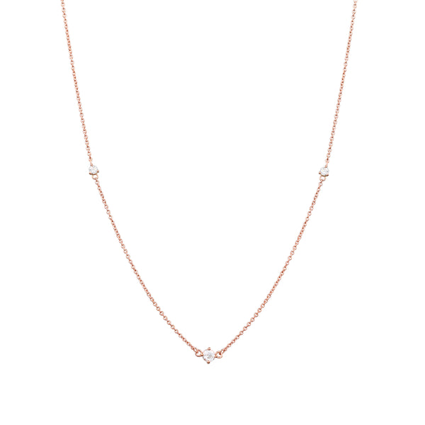 Fireworks Diamond Necklace // Rose Gold