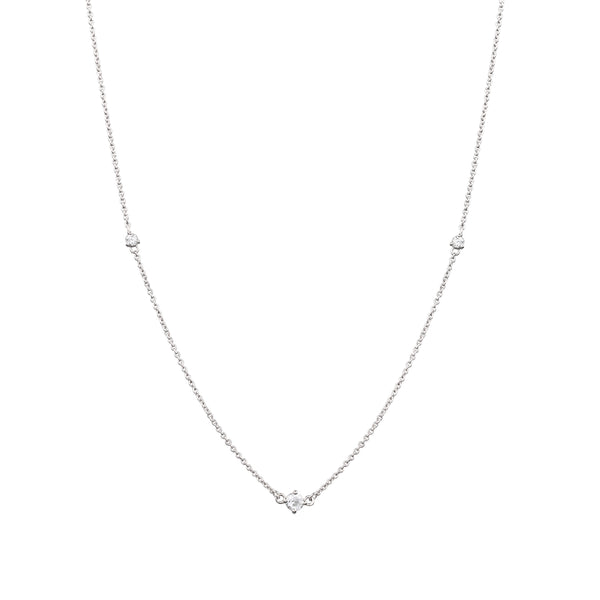 Fireworks Diamond Necklace // White Gold