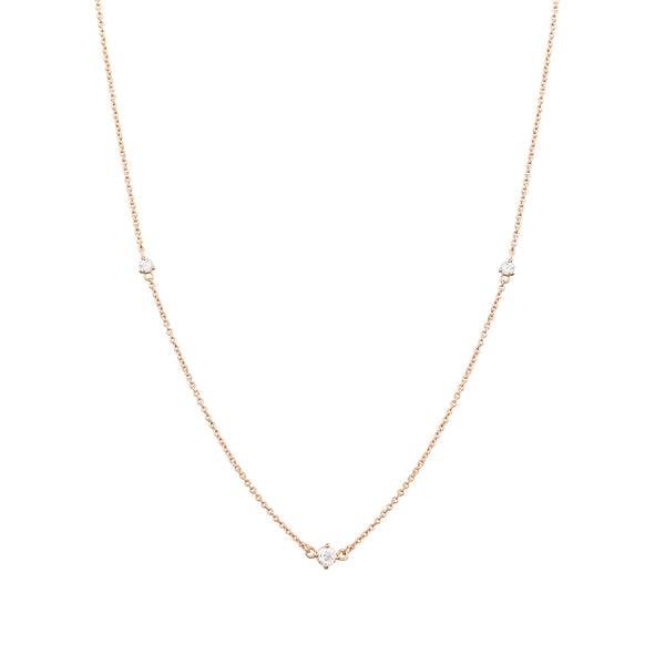 Fireworks Diamond Necklace // Gold