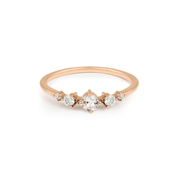 Fireworks Diamond Ring // Rose Gold