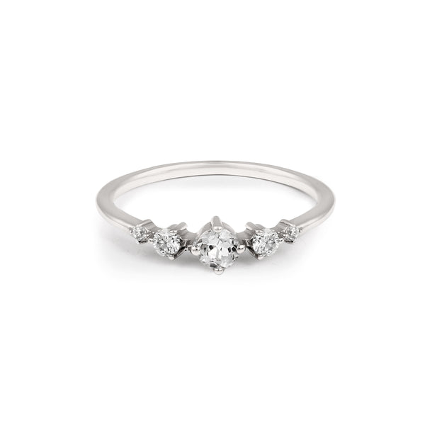 Fireworks Diamond Ring // White Gold