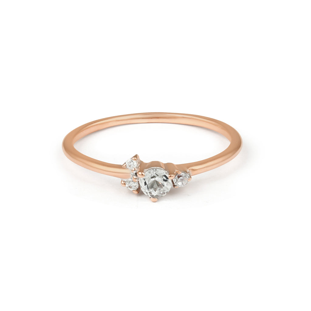 Corsage Diamond Engagement Ring // Rose Gold