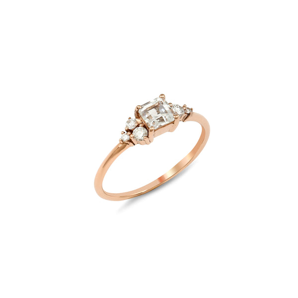 Darcy Diamond Engagement Ring // Rose Gold