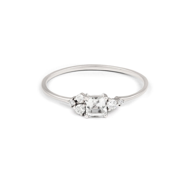 Darcy Diamond Engagement Ring // White Gold