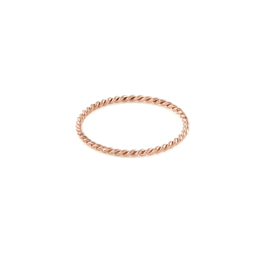 Plain Twist Stacking Ring // Rose Gold