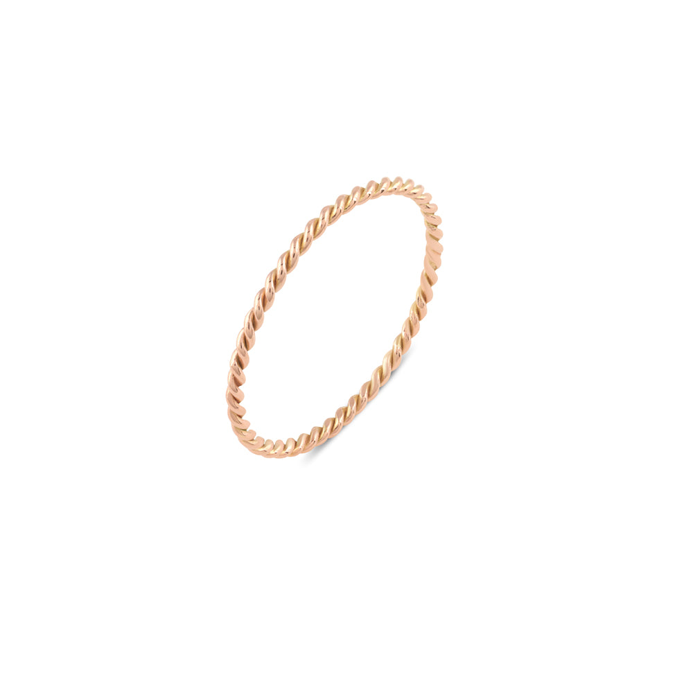 Plain Twist Stacking Ring // Gold
