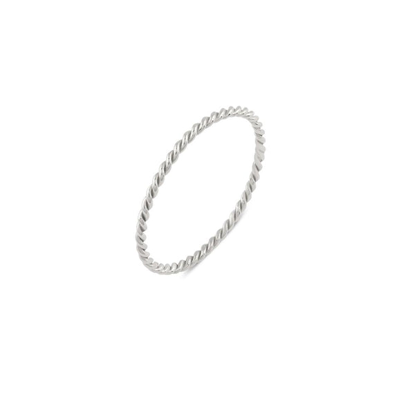 Twist Ring // White Gold