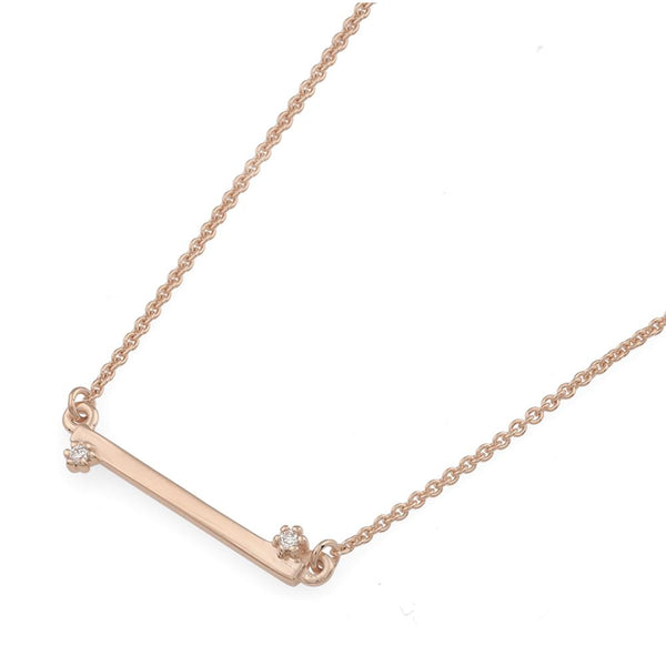 Balance Diamond Necklace // Rose Gold